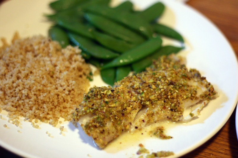 Lemon-Pistachio Crusted Haddock
